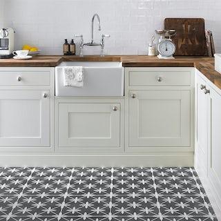 Laura Ashley Heritage wicker charcoal grey matt tile 331mm x 331mm