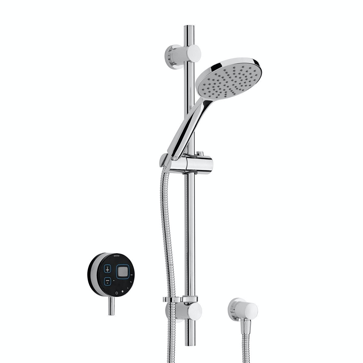 Bristan Artisan Evo digital shower with slider rail kit black