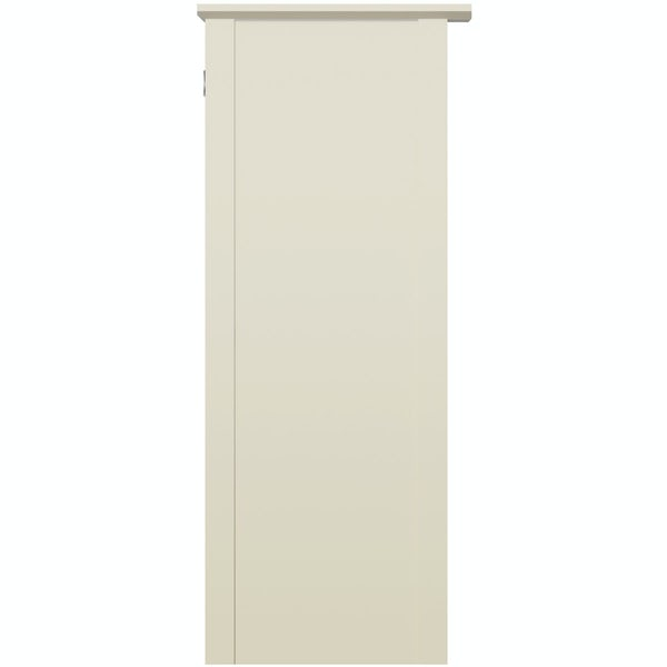 The Bath Co. Camberley satin ivory back to wall unit