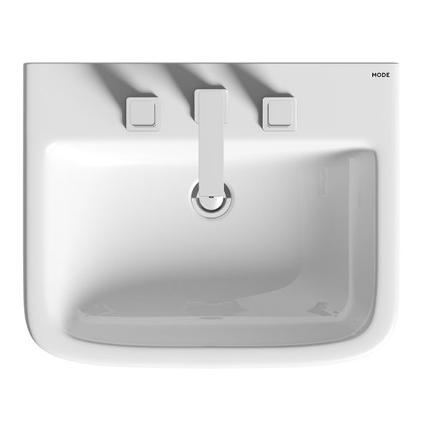 Mode Carter full pedestal 3 tap hole basin 550mm