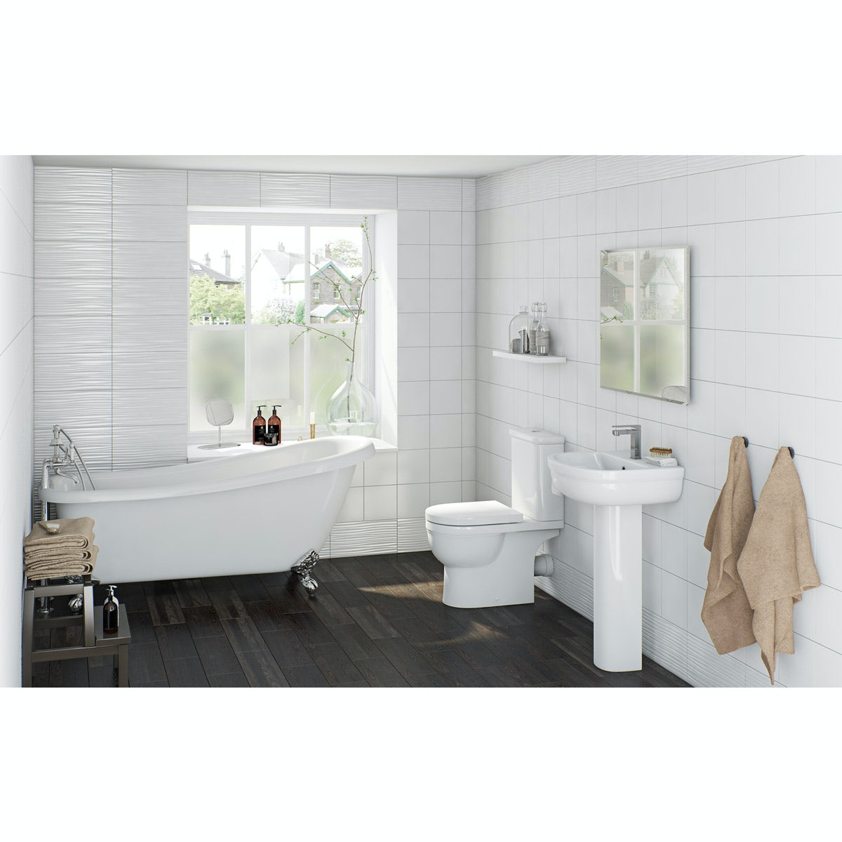 Orchard elsdon bathroom suite with traditional slipper for Small baths 1200