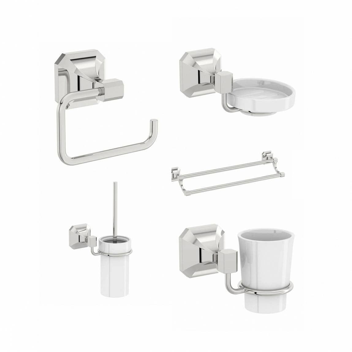 The Bath Co. Camberley family bathroom accessory set