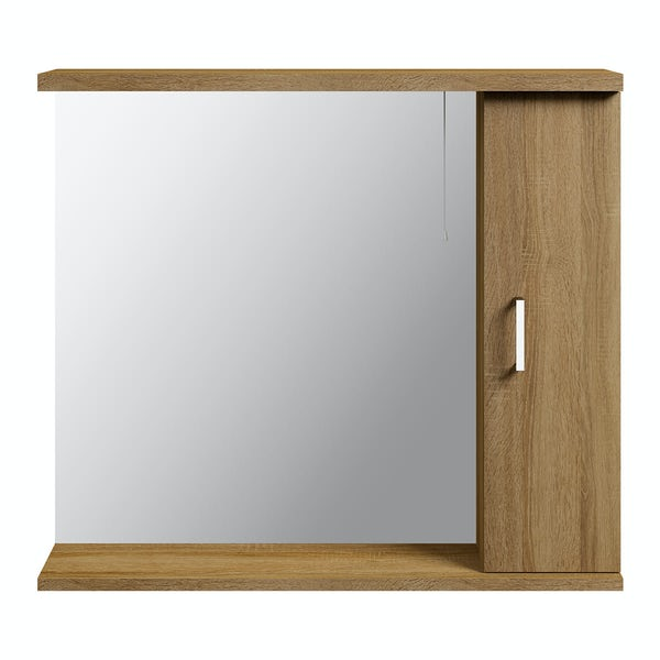 Sienna Oak 850 Mirror with lights