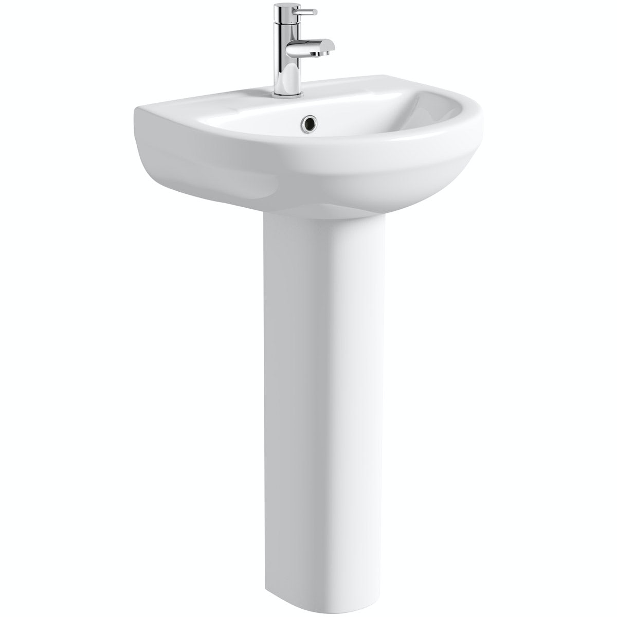 Orchard Wharfe 1 tap hole full pedestal basin