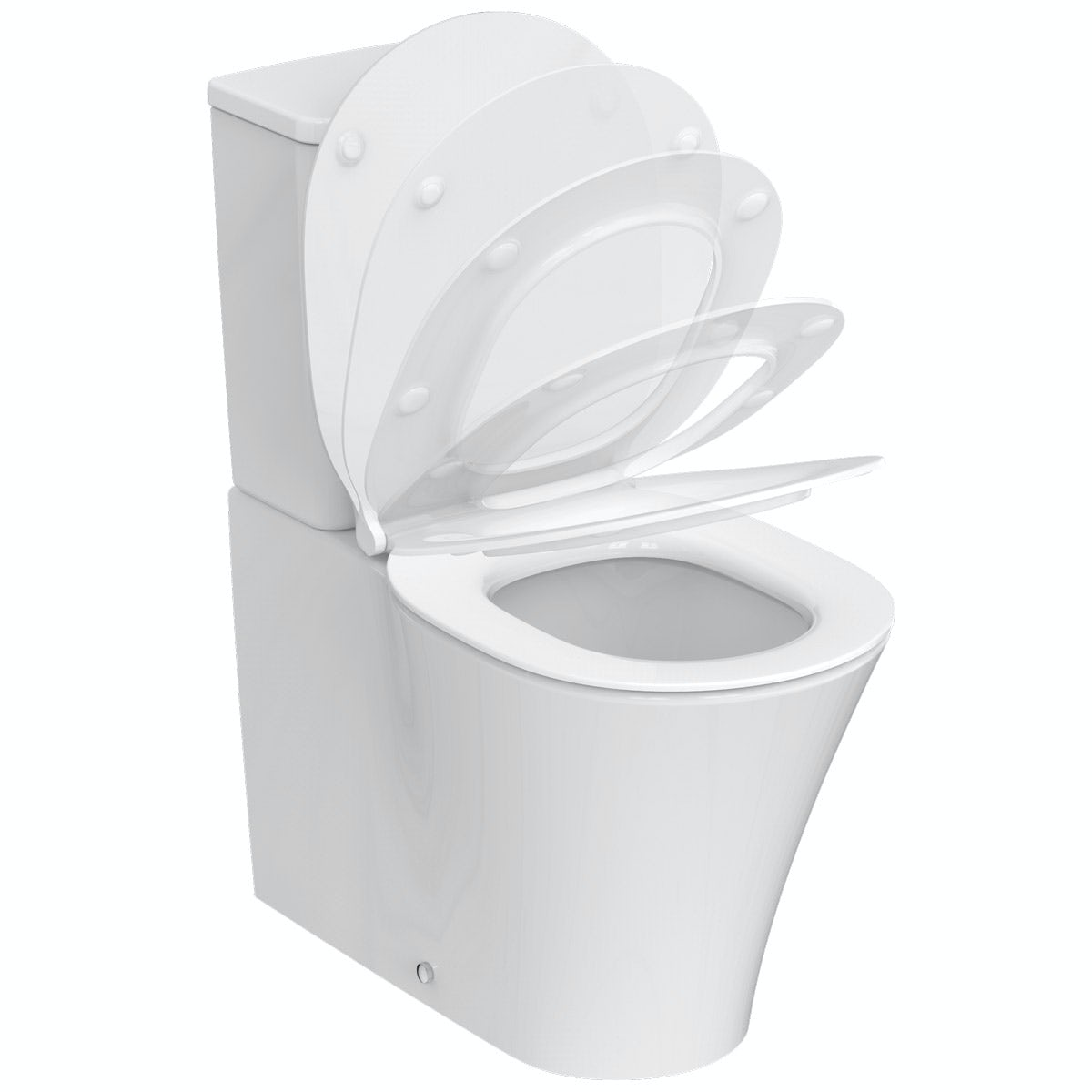 Ideal Standard Concept Air close coupled toilet with soft close toilet seat