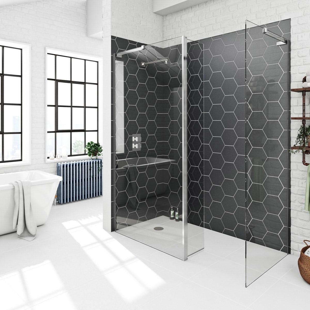 Mode 8mm wet room pack with return panel 1600 x 800 | VictoriaPlum.com