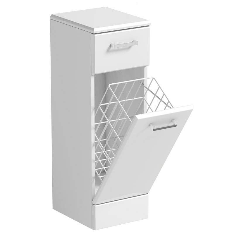 Sienna White Linen Basket 300