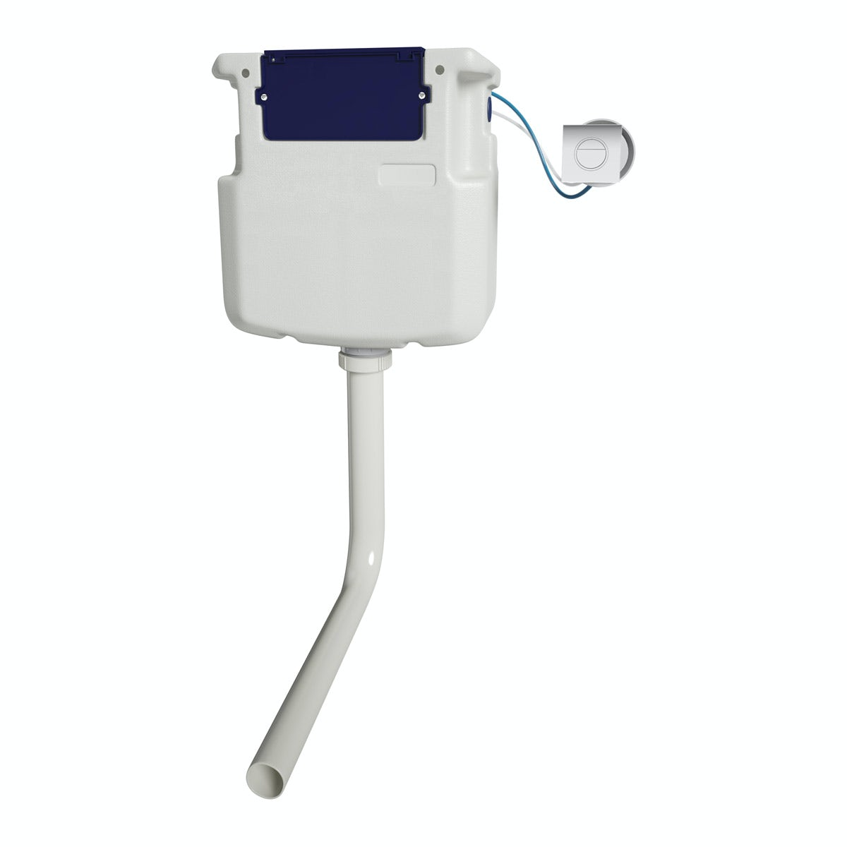 Pneumatic concealed cistern with square push button