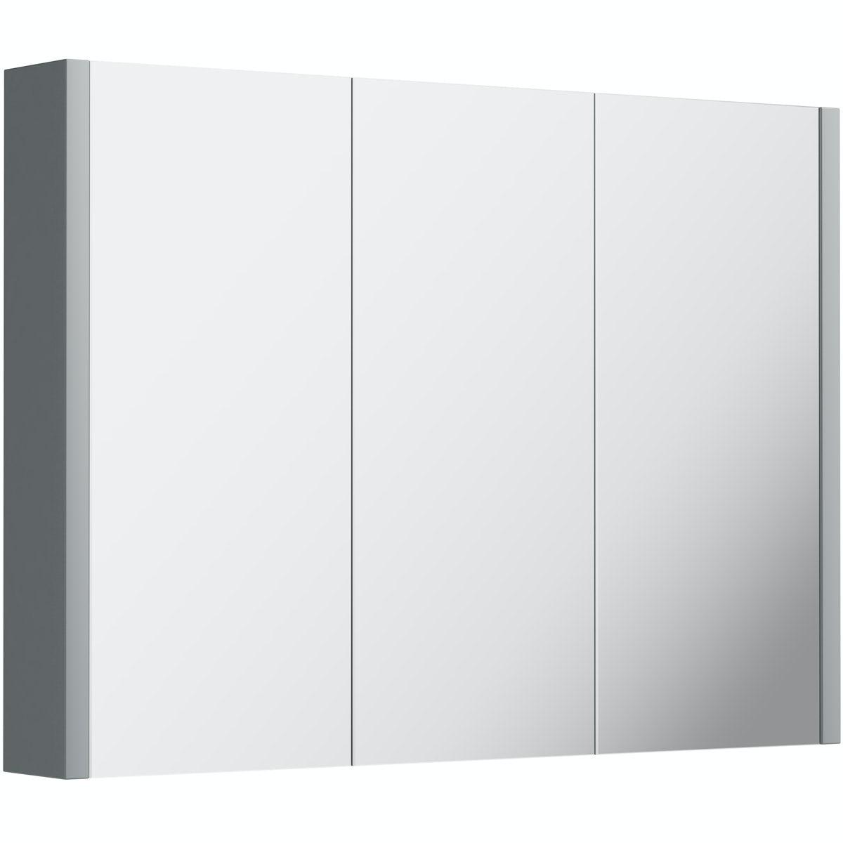 Orchard Derwent grey 3 3oor mirror cabinet 900mm