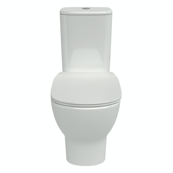 Ideal Standard Tesi close coupled toilet with Aquablade rimless technology and soft close toilet seat