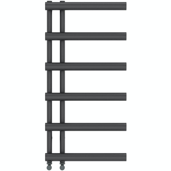 Hardy anthracite heated towel rail 1000 x 500