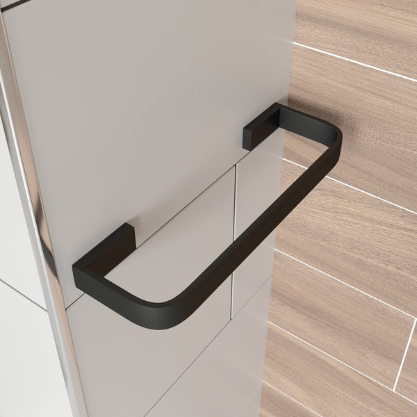 Mode Spencer black towel rail