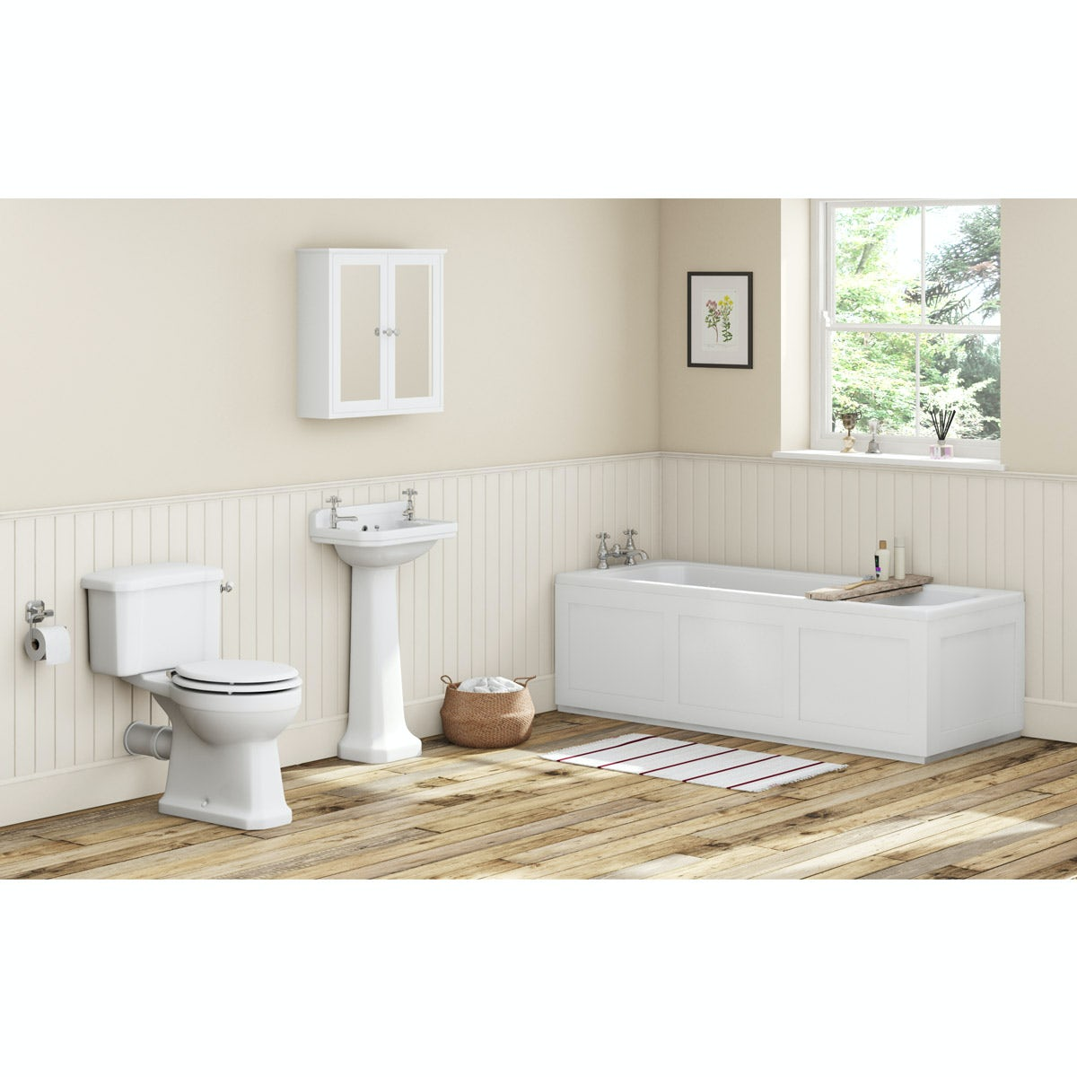 Camberley White Bathroom Suite With Straight Bath 1700 X 700 Part 54