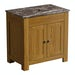 The Bath Co. Chester oak washstand with brown marble top 800mm