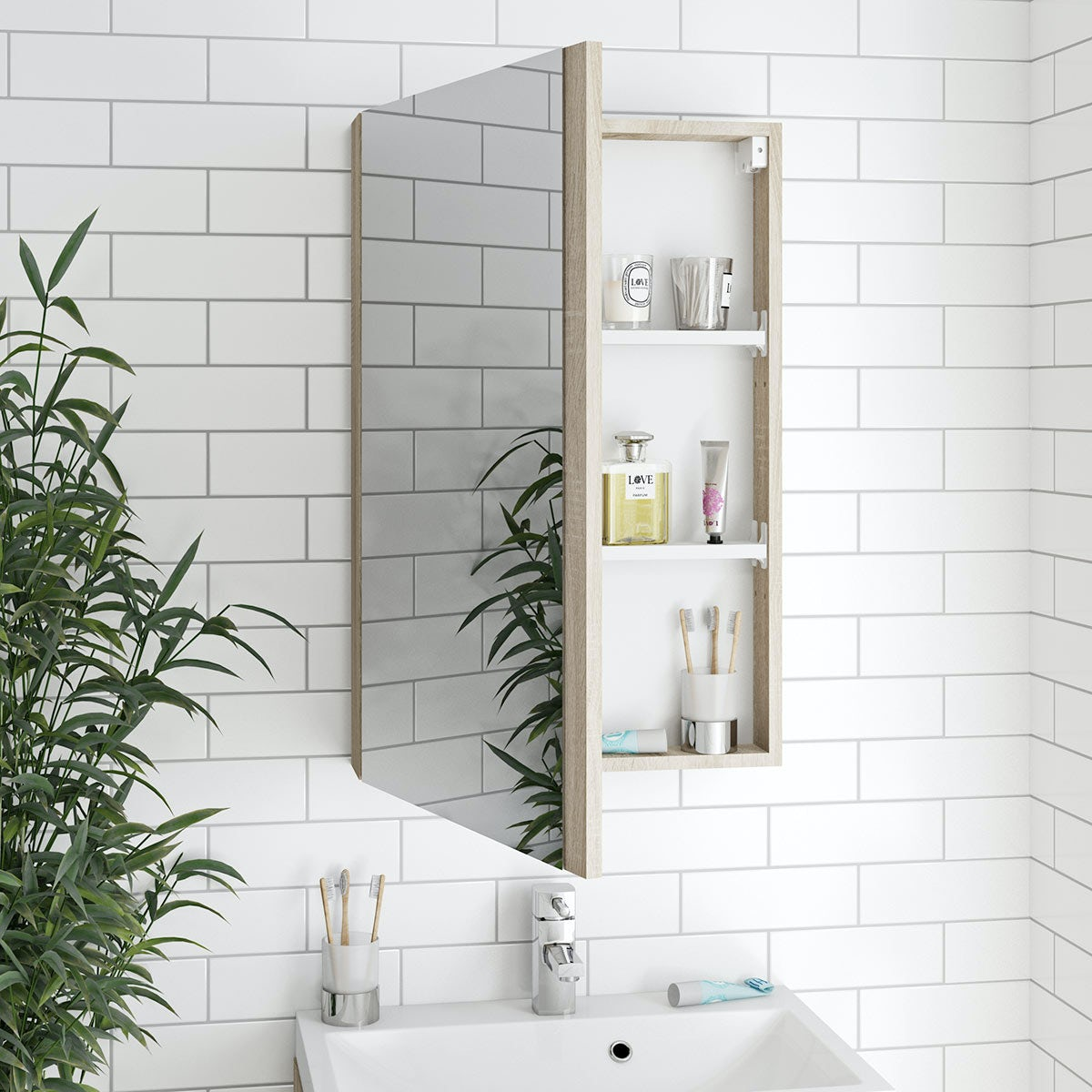 Oak Bathroom Mirror Cabinet Solid Light Oak Bathroom Storage Cabinet ...
