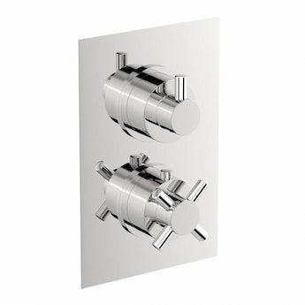 Mode Alexa square twin thermostatic shower valve