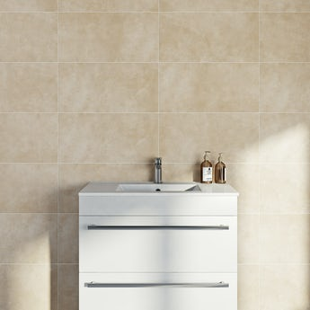 Canvas sand matt tile 298mm x 598mm