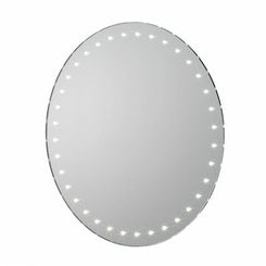 Aries mains powered LED bathroom mirror