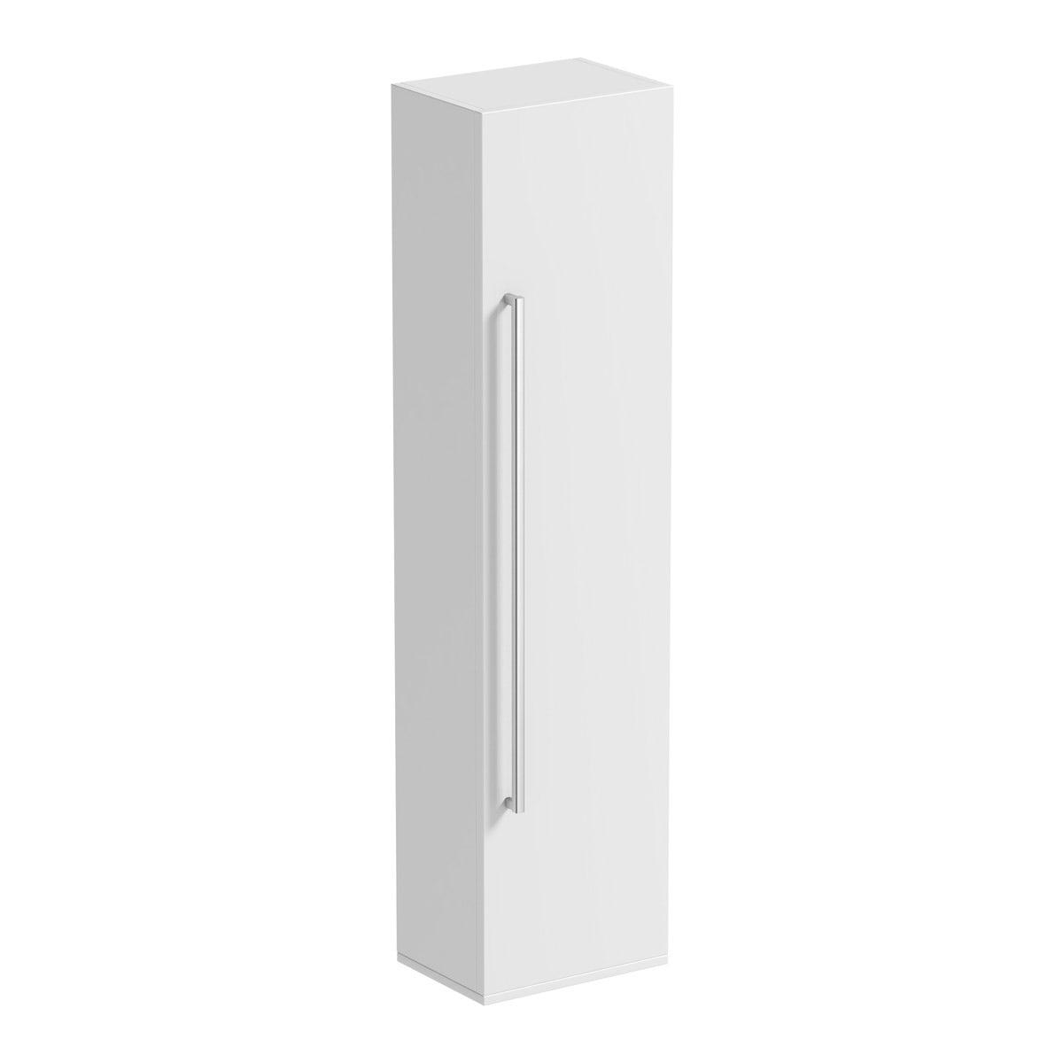Orchard Derwent white tall storage cabinet