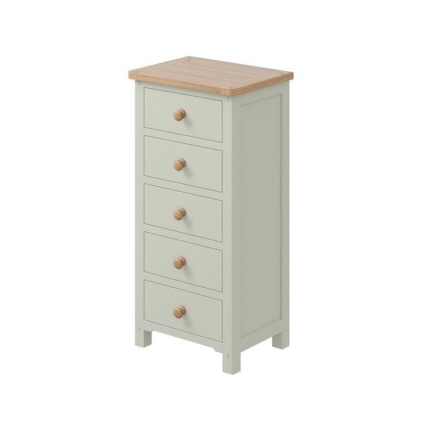 Rome Oak & Grey 5 drawer Tall Chest In Oak & Grey