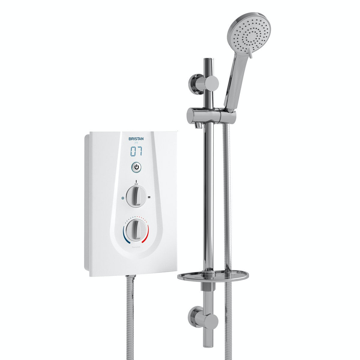 Bristan Joy 8.5kw thermostatic electric shower white
