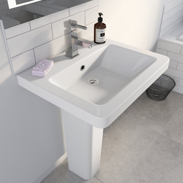 Cooper 1TH 550mm Basin & Pedestal