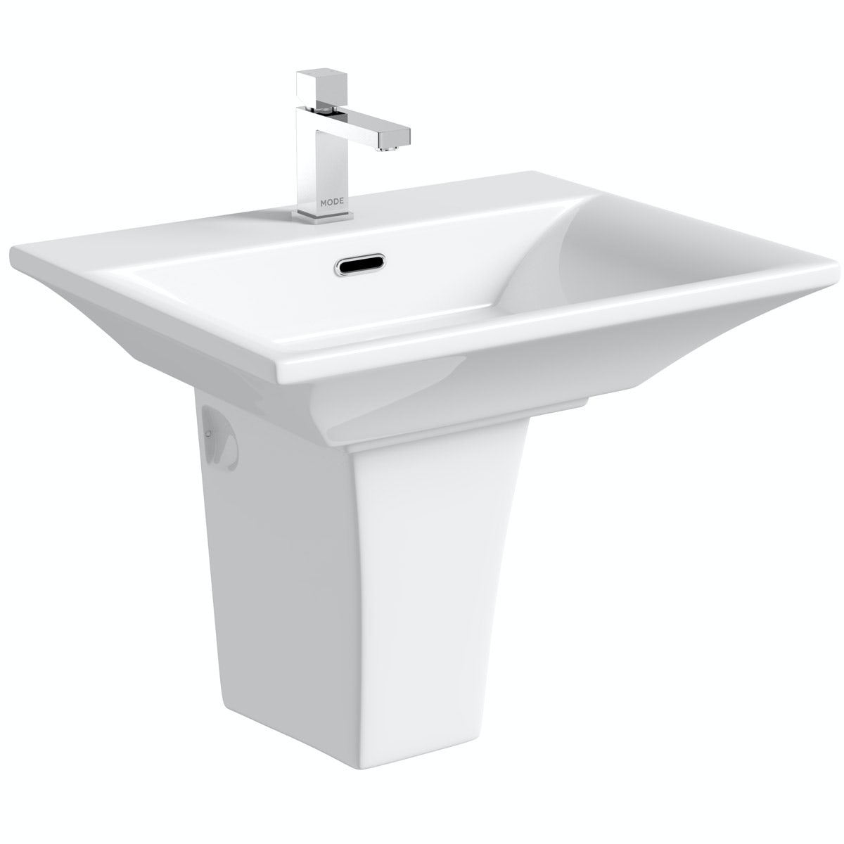 Mode Austin 1 tap hole semi pedestal basin 600mm
