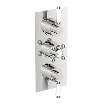 The Bath Co. Traditional square triple thermostatic shower valve