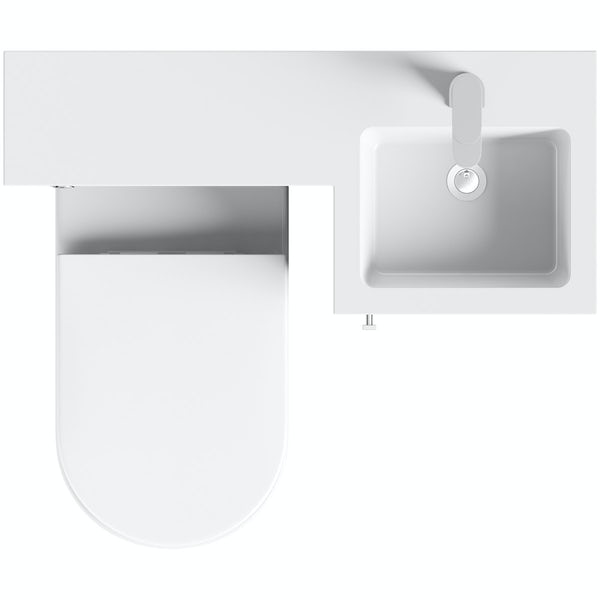 Orchard MySpace grey right handed combination unit with Tate toilet