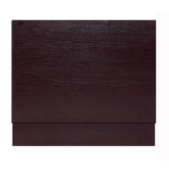 Wenge effect wooden straight bath end panel 800mm