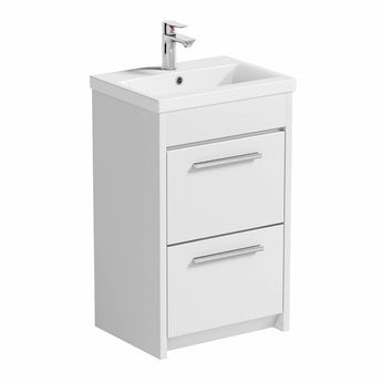 Clarity white vanity drawer unit with basin 510mm