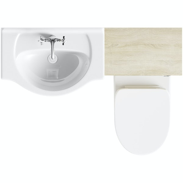 Eden oak 1140 combination with Energy back to wall toilet