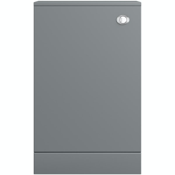Orchard Derwent grey back to wall toilet unit