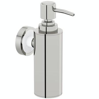 Options wall mounted slim stainless steel soap dispenser