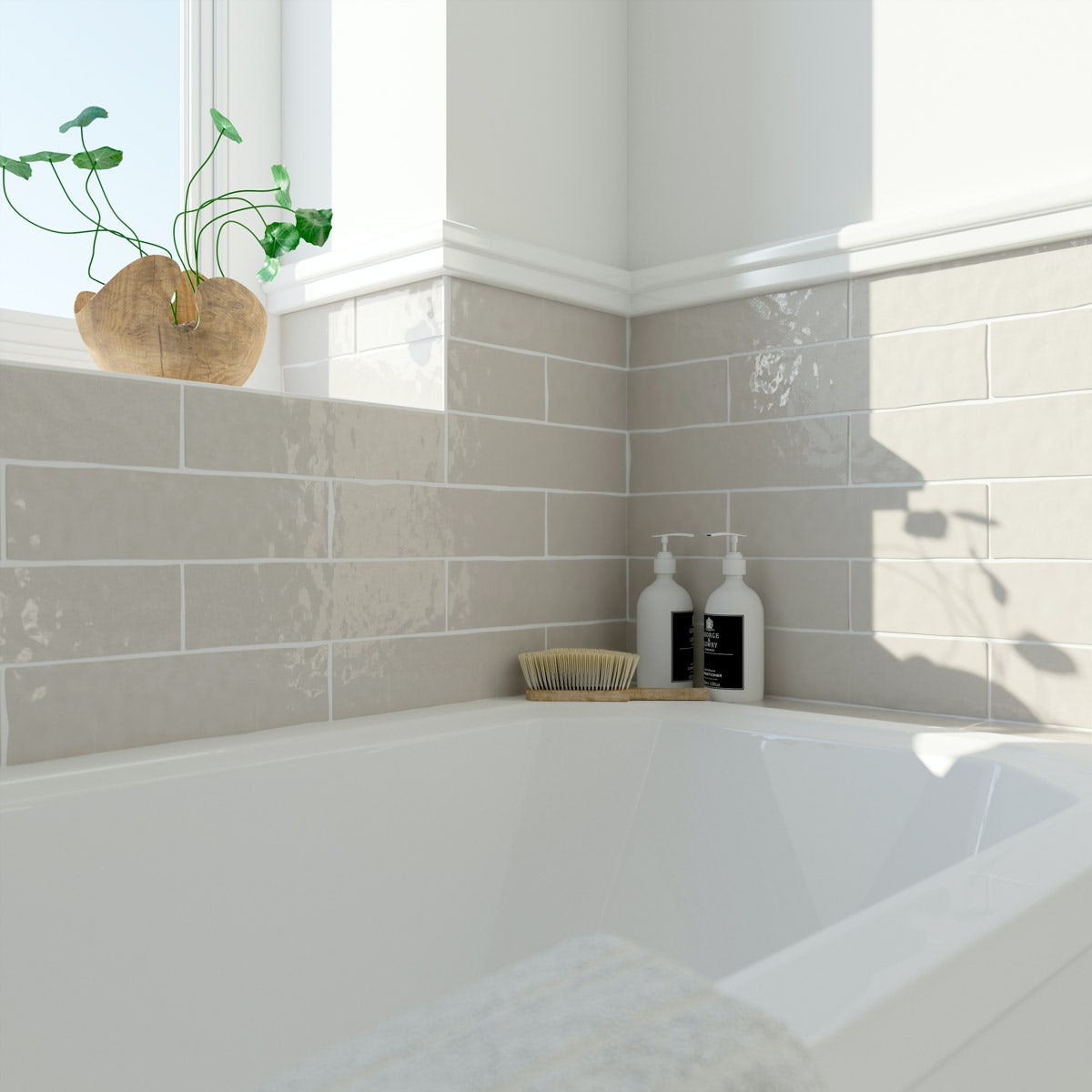 Laura Ashley Artisan cobblestone wall tile 75mm x 300mm