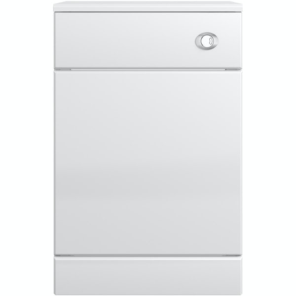 Eden white back to wall unit with Energy toilet