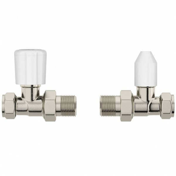 5 pairs of Clarity straight radiator valves