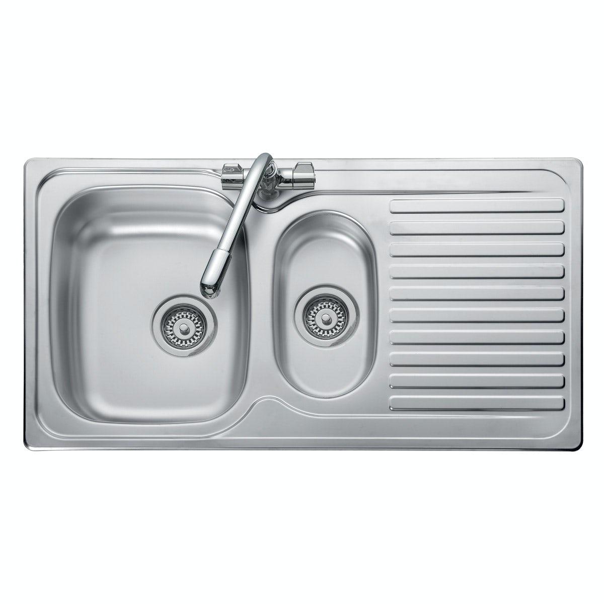 Leisure Linear 1.5 bowl reversible kitchen sink