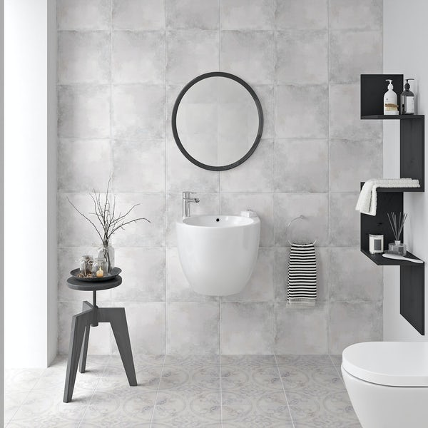 Ted Baker VersaTile matt light grey wall and floor tile 331mm x 331mm
