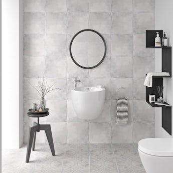 Ted Baker VersaTile matt light grey wall and floor tile 331mm x 331mm