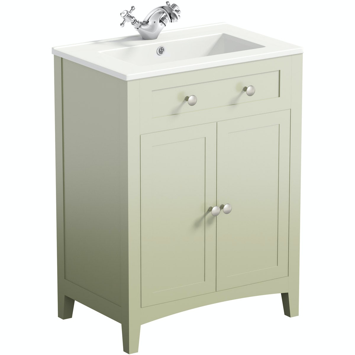 The Bath Co Camberley Sage Vanity Unit With Basin