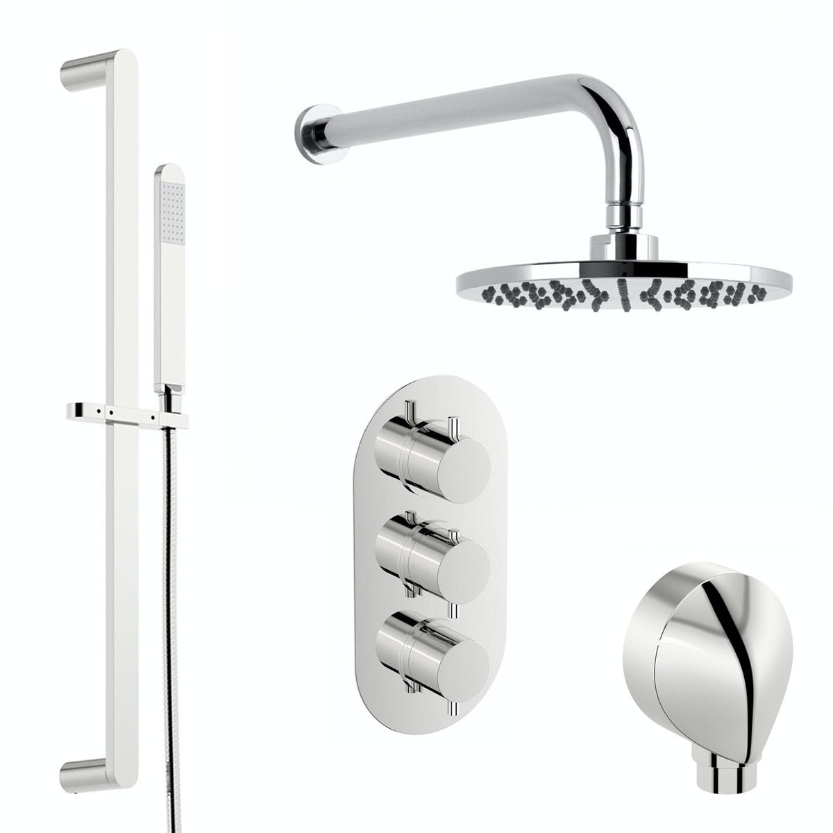 free delivery matrix triple shower valve complete shower set
