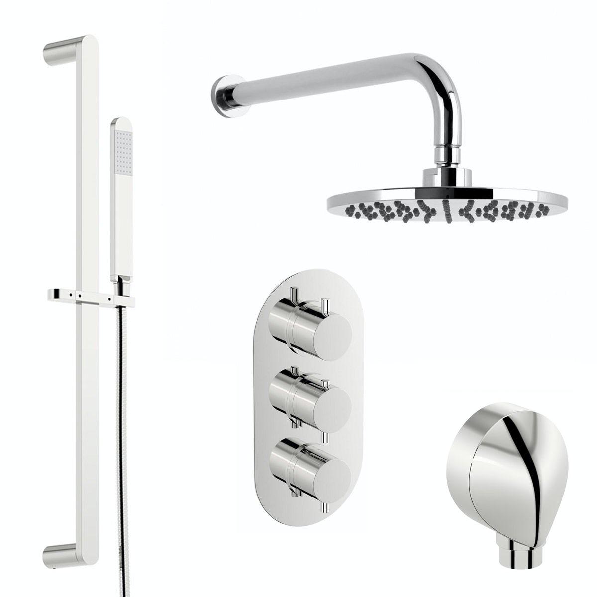 Mode Harrison thermostatic triple shower valve shower set