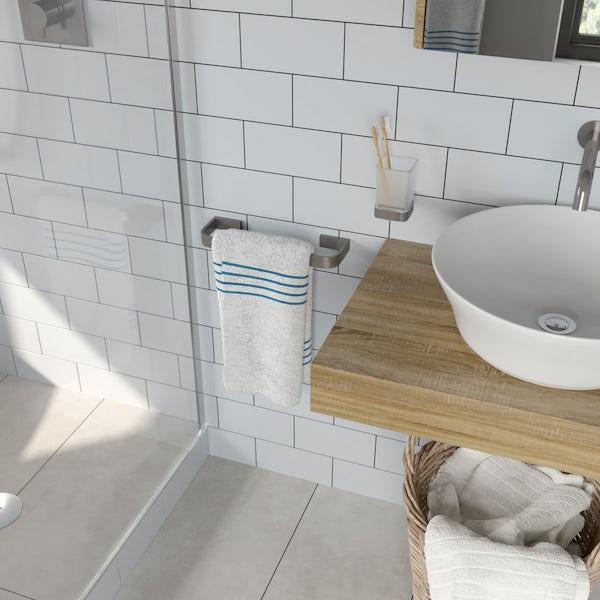 Mode Spencer brushed nickel towel rail