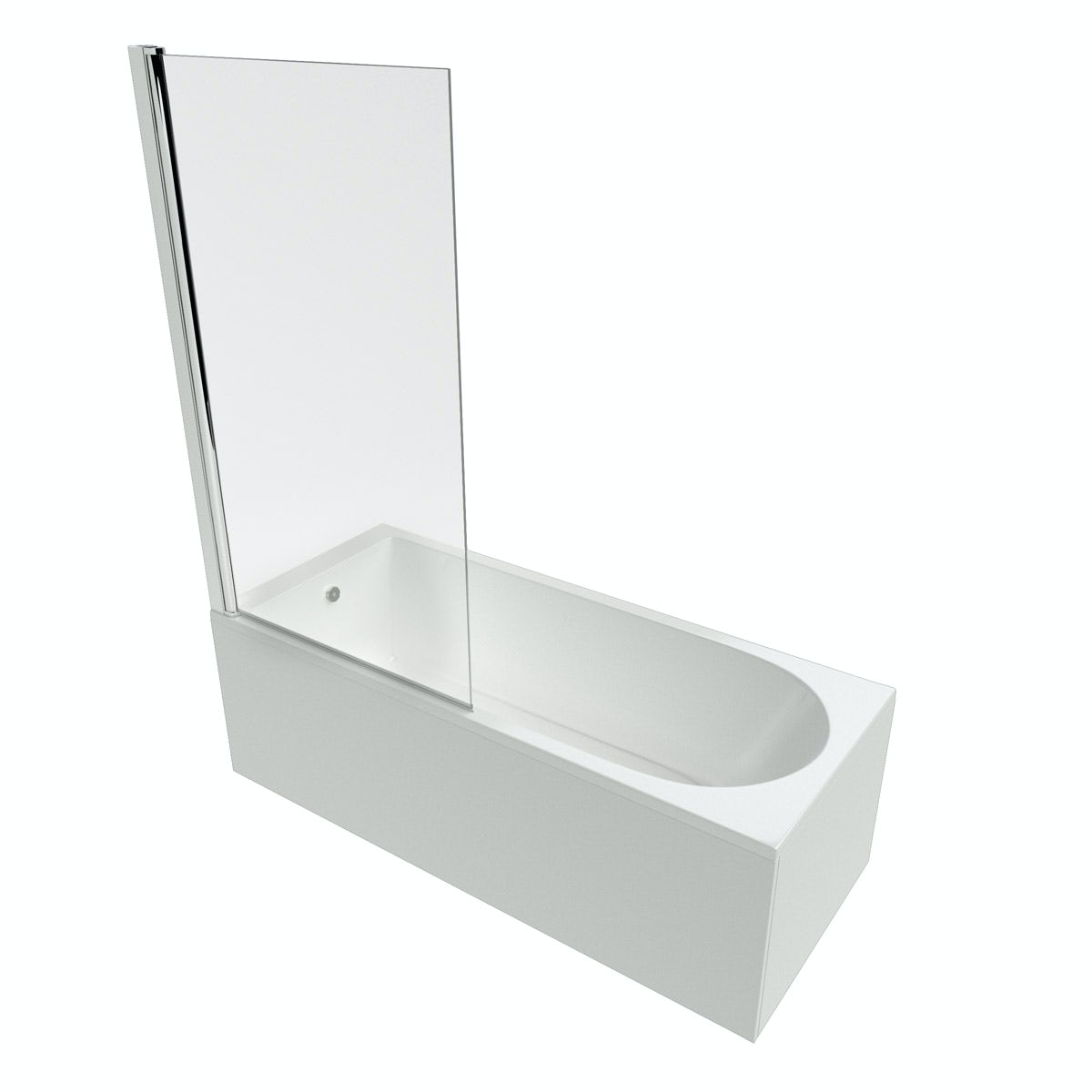 Ideal Standard Tesi straight bath and radius screen 1700 x 700