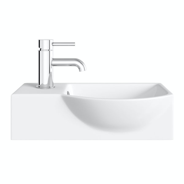 Lugano wall hung basin 505mm