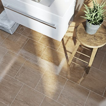 Lux sand beige gloss tile 331mm x 331mm