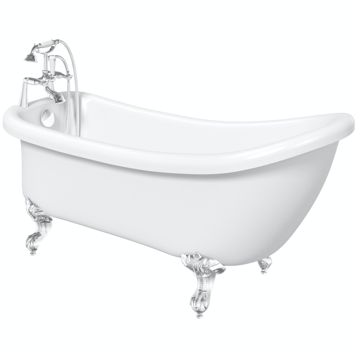 The Bath Co. Winchester roll top bath with ball and claw feet 1500 x 720