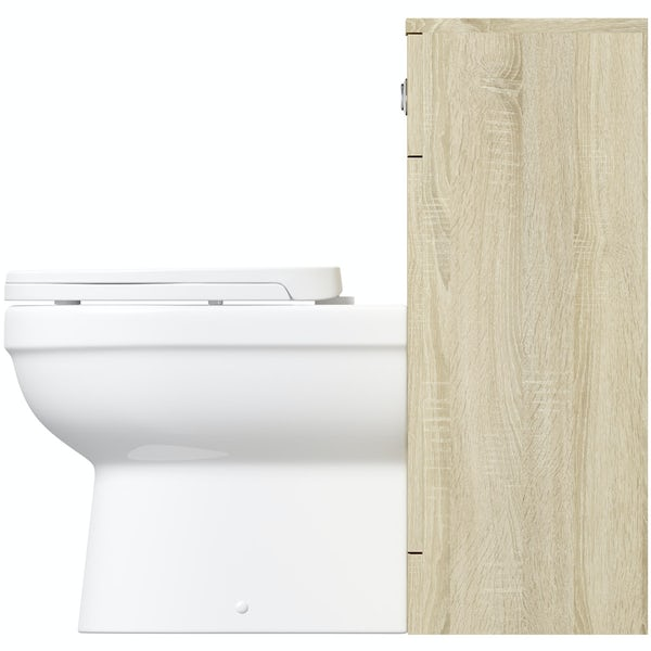 Eden oak slimline back to wall unit with Energy toilet