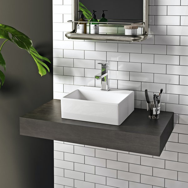 Harrop counter top basin with waste
